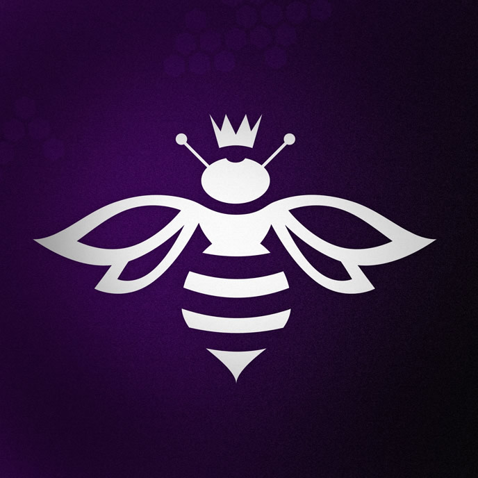bee mark logo for purple bee studiosQueen Bee Logo