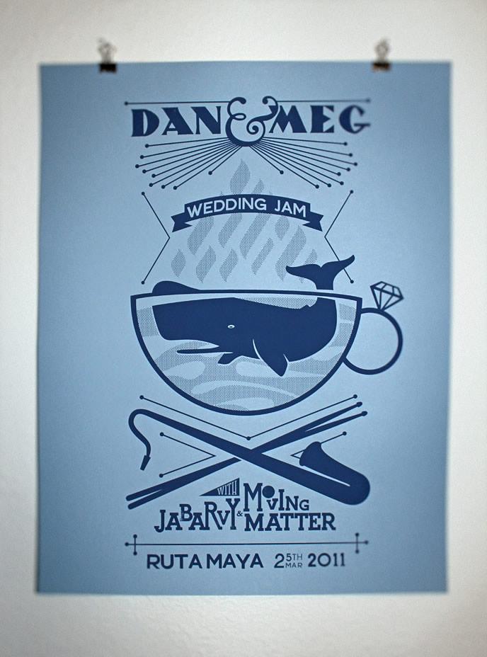 Dan Amp Meg Wedding Poster Airshp