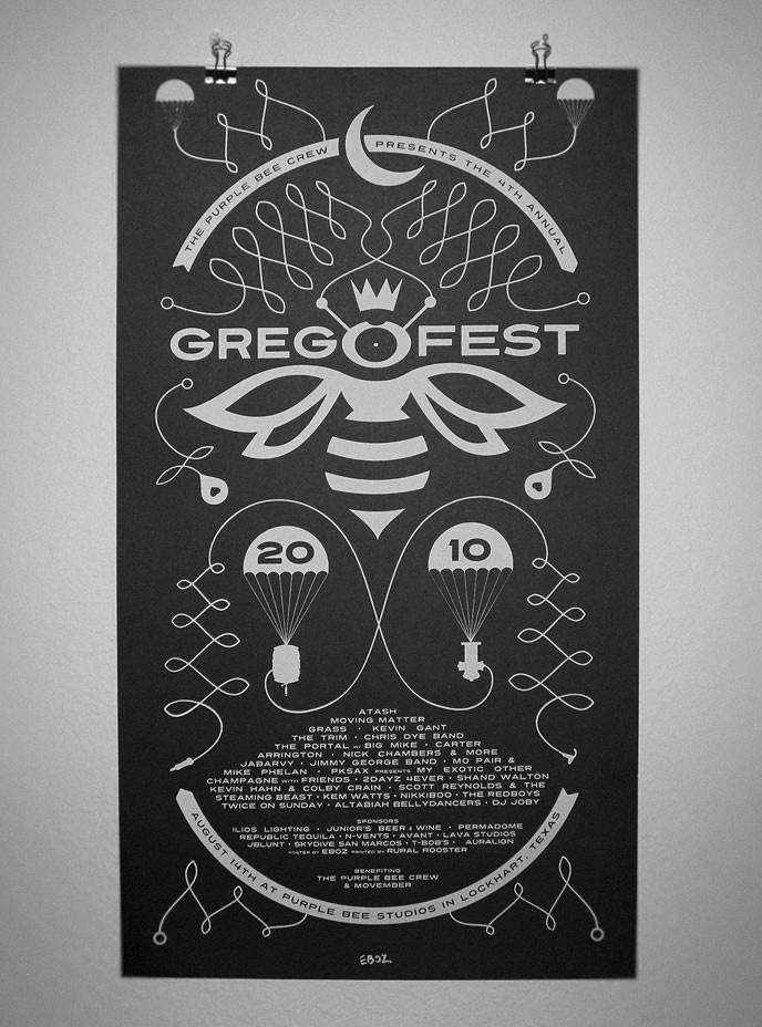 Gregofest 2011 poster